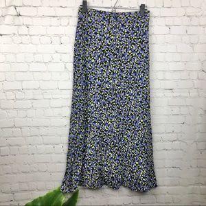 Zara Floral Button Down Skirt XS